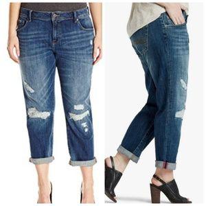 Lucky Brand Reese Boyfriend jeans distressed 14W